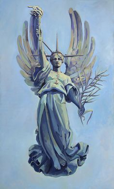 The Lightness of Liberty, oil on canvas, 60 x 36 inches, I Stand with Her, mary michaela murray Lady Justice, I See It, Screensaver, Stand By Me, Statue Of Liberty, Oil On Canvas, Freedom, Mary, Construction