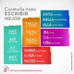 Escribir mejor #Spanish