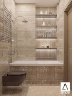 Tiny Bathroom Tub Shower Combo Remodeling Ideas 46 - Home Decor Design House Bathroom, Bathroom Inspiration, Bathroom Tub Shower Combo, Bathroom Interior, Tub Shower Combo, Bathrooms Remodel, Trendy Bathroom, Bathroom Design Small, Small Bathroom Remodel