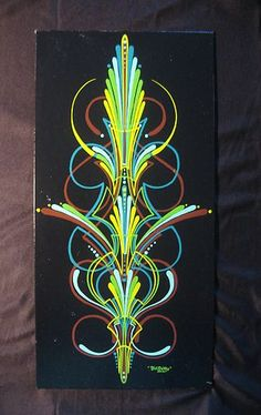 """This is a Fat Daddy Lines & Designs exclusive design called """"Donut Boy"""" scroll pinstriping. All rights reserved."""