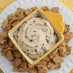 Chocolate Chip Cookie Dough Dip #Party #Recipe