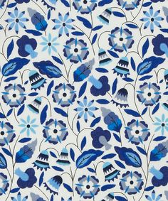 Fab colour inspiration & a lovely pattern!  Bobo D Tana Lawn Cotton. Inspired by needlework embroidery | Liberty Art Fabrics