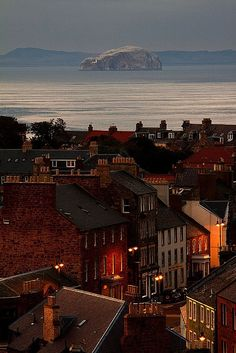 Amazing evening photo of Dunbar, Scotland over to The Bass Rock! Places Around The World, Travel Around The World, The Places Youll Go, Places To See, Around The Worlds, England Ireland, England And Scotland, Scotland Uk, Inverness