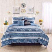 Casa Mia Monterrey 7-Piece Comforter Set available at - Walmart.com  #casamia #bedding #homedecor #comforter #comforterset #comfortersets #white #blue #walmart #casamiabedding #home #monterrey