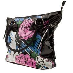 Women's Shoulder Bags - Iron Fist Black Sugar Witch Vegan Tote Handbag >>> Click image to review more details.