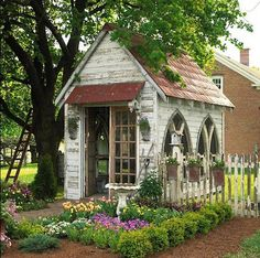 What a gorgeous garden shed!