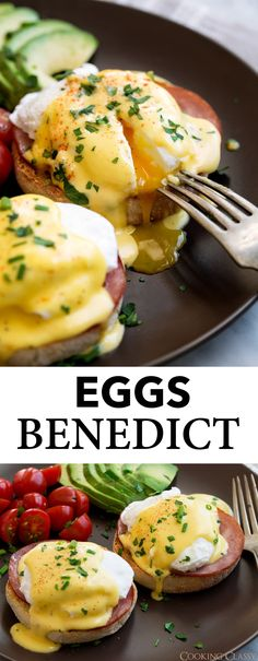 George's Writing - Eggs Benedict Recipe {with the Best Hollandaise Sauce!} - Cooking Classy - - - Eggs Benedict - the perfect eggs Benedict recipe! You get a golden brown, toasted English muffin layered with a slice of flavorful Canadian bacon, top. Eggs Benedict Recipe, Egg Benedict, Eggs Benedict Healthy, Eggs Benedict Casserole, Recipe For Hollandaise Sauce, Perfect Eggs, Canadian Bacon, Gordon Ramsey, Cooking Recipes