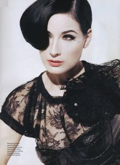 Dita....the definition of individual style...harkens to another era...but completely all her own.