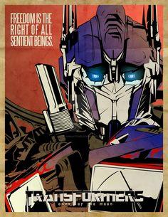 Optimus Prime, Dark of the Moon Poster Don't expect a Shockwave/Megatron/other version of the poster, I'm not sure if I'll be doing any. Transformers Prime, Nemesis Prime, Marvel Comics, Hasbro Studios, Nova Era, Custom Gundam, Cartoon, Anime, Net Neutrality