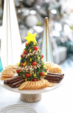 Holiday Appetizer Recipe - Christmas Tree Cheese Ball