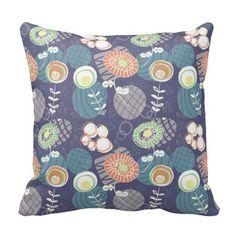 Funky Flower Garden design on pillow