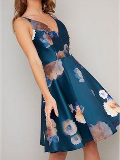 # Dancing Days Vintage Rockabilly Matita Abito vestito poise BLU SCURO Pinstripe