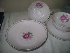 Fine China Replacements Fine China of Japan  Imperial Rose 6702 Japan  #FineChinaofJapan