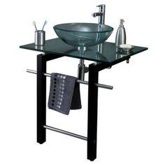 Vanitory Key con Bacha de Apoyo, vanitory con bacha de vidrio, sopapa, toallero y descarga, baños y cocinas, baños, muebles de baños, vanitorys, Sodimac Argentina