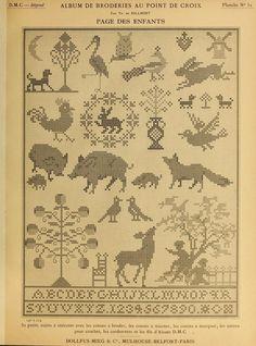 1890 Album de broderies au point de croix. Th. De Dillmont