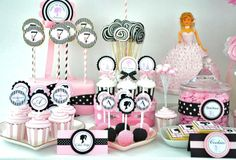 Barbie Party #barbieparty #desserttable