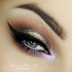 'Disco Night' by DiamanteMakeUp using Makeup Geek's  Chickadee, Sensuous, Unexpected, Vanilla Bean, and White Lies eyeshadows along with Bewitched pigment.