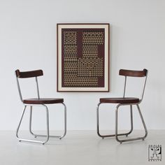 Two rear cantilever chairs B 260 by Thonet