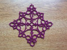 christmas ornament tatted lace christmas ornament lace by MamaTats