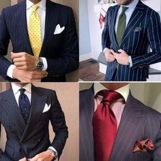 Дорогие костюмы вызывают привыкание  Мужчины у которых в гардеробе нет большого разнообразия в основном стараются покупать костюмы из однотонной ткани  более консервативный и универсальный вариант. Однако для тех кто хочет выделиться или иметь про запас отличную комбинацию для особого стильного случая костюм в полоску является актуальным. Полоски создают вытянутый силуэт поэтому такие костюмы отлично подходят невысоким и/или коренастым господам. С осторожностью следует относиться к полоскам…