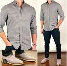 Full sleeves grey shirt and loafers with black pant/trouser  #greyshirtoutfits #formaloutfits #greyloaferoutfits #fashiongrid #blacktrousers #greyloafers #formaloutfits #menswear #mensfashion #fashiongrid #guystyle #styleguide #classicstyleoutfits
