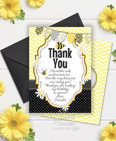 Bumble Bee Invitation Bumble Bee Birthday Invitation Bumble | Etsy Bumble Bee Invitations, Printable Birthday Invitations, Party Invitations, Bumble Bee Birthday, Bee Photo, Color Card, Photo Cards, Your Cards, Thank You Cards