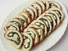 Spinach Stuffed Chicken, Feta, Sushi, Bacon, Ethnic Recipes, Bors, Pork Belly, Sushi Rolls