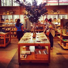 Inside Heath Ceramics, really beautiful ceramic items, used by some of my favorite pastry shops: Craftsman & Wolves, Blue Bottle Coffee