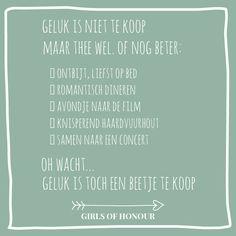 #geluk #gelukkig #gelukisniettekoop #liefde #liefdesquote #quote #tegeltjeswijsheid #trouwen #verloofd #trouwblog #girlsofhonour #huwelijk Honor Quotes, Dutch Quotes, Special Words, Relationship Advice, Hearts, Bible, Mindfulness, Messages, Love