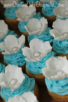 Bridal Shower Cupcakes by Christina's Dessertery, via Flickr