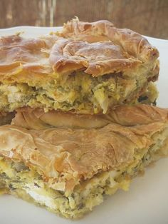 Food Network Recipes, Cooking Recipes, Pizza Tarts, Greek Spinach Pie, Greek Dishes, Side Dishes, Savory Muffins, Cheesecake, Puff Pastry Recipes