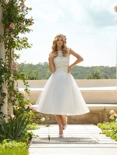 """at this price, I could have a few """"wardrobe changes"""" throughout the big day! ;)  Short wedding dress tea length lace wedding by Lemonweddingdress, $249.00"""