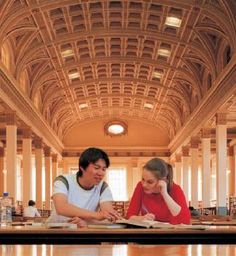 Inside Barr Smith Library, University of Adelaide