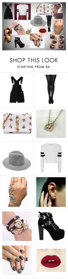 """""""Untitled #14"""" by nerdybutmad ❤ liked on Polyvore featuring Yves Saint Laurent, Glamorous, Mike Saatji, Jeffrey Campbell and alfa.K"""