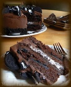 Chocolate Oreo Cake. I think I need to make this ASAP!