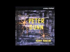 """Perhaps his best-known TV theme, Henry Mancini wrote this for the private-eye TV series """"Peter Gunn"""" which appeared in the 50s and early 60s.  This suite of music (including the memorable theme that starts it) is from Mancini's orchestra.  It shows the great strength of Mancini's gift for writing in the big-band jazz format.  Oh, and by the way, on piano is none other than John (then called Johnny) Williams."""
