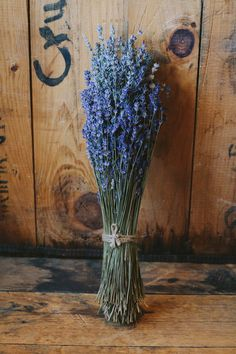 Lavender Bouquet - On SMP: http://www.StyleMePretty.com/new-york-weddings/hudson-valley/2014/02/03/hudson-valley-wedding-at-the-red-dot/ Photography: Cynthia Chung