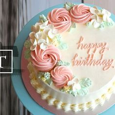 We are excited to bring you our LATEST selection of Cream series cakes. Grab your desired cake to ce Elegant Birthday Cakes, Birthday Cake For Women Simple, 90th Birthday Cakes, Birthday Cake For Mom, Birthday Cake With Flowers, Beautiful Birthday Cakes, Women Birthday, Birthday Ideas, Birthday Gifts