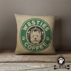 Wake up and smell the coffee -quite literally- with these unique Westie cushions. Perfect for the sofa of any Westie lover! *KEY FEATURES*: -