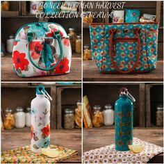 Ree Drummnd, AKA The Pioneer Woman is ready for back to school.  These gorgeous lunch totes with matching water bottles are available a...