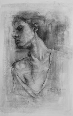 Charcoal on canvas. #portrait #drawing #artworks #charcoal #charcoaldrawing #charcoalportrait