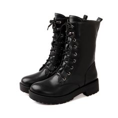 33.93$  Know more - http://ainz7.worlditems.win/all/product.php?id=1959521697 - ARMOIRE Hot Fashion Black Platform Combat Ankle Boots Ladies Winter Shoes Low Square Heels A209 Lace up Plus Big Size 5 10 43