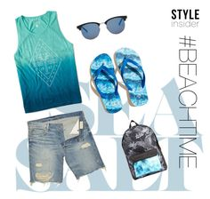 """""""#BEACHTIME fellas! dont forget to bring your sunscreen!"""" by echo-adi on Polyvore featuring Denim & Supply by Ralph Lauren, Aéropostale, Hollister Co., Yves Saint Laurent, Billabong, men's fashion and menswear"""