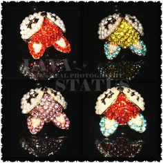 2014 1PC Free Shipping Wholesale Alloy With Rhinestone Pearl Colorful Cute Fox Phone Dust Plug Accessory Decoration $2.94