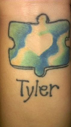 Tattoo I got for my Son Tyler who was diagnosed with Autism in 2009.
