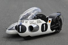 This 1966 URS 498cc Racing Sidecar won the World Sidecar Championship in 1968 in the hands...