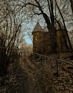 Forest Castle, Scotland very creepy one you might picture an insane couple living in.