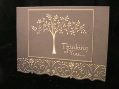 handcrafted sympathy card: Stampin' Up! ...  handmade sympathy card by susie nelson ... says it is gray with silver embossing ... looks taupe and ivory ... beautiful card ...