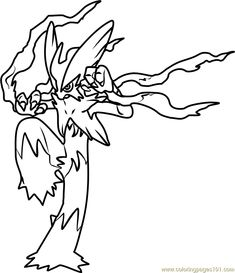 383 groudon pokemon coloring page 480×325
