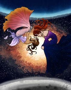 """cassia-azure: """" Final day of The Lunar Chronicles Mini-Ship Week: Revolution. For Revolution, I drew Princess Selene and Queen Levana, for their parallels and for their differences. Marissa Meyer Books, Before The Dawn, Princess Drawings, Fictional World, Books For Teens, Lunar Chronicles, Fanart, Cinder, Best Series"""